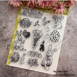 Wholesale Stamp Rabbit - Wholesale- Lovely Animal rabbit Clear stamp Scrapbook DIY photo cards account rubber stamp clear stamp transparent seal Handcrafted art