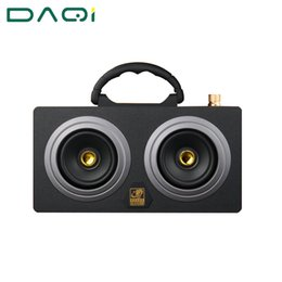 Wholesale High Power Bluetooth - Wholesale- Wooden 20W High Power Outdoor Bluetooth Speaker Wireless Stereo Super Bass Subwoofer Dancing Loudspeaker with fm radio sound car