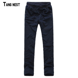 Wholesale Korean Fashion Hot Pants - Wholesale- 2017 Hot Sale Fashion Men's Full Length Straight Casual Comfortable Korean Style Cotton Popular Pant MKX048