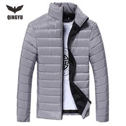 Wholesale Long Down Coat For Men - Wholesale- Men'S Down Jacket Parka Winter Long Sleeve Warm Men Down Coat Mens Clothes Solid Color Winter Jacket For Men 8 Colors M-XXXL