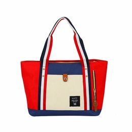 Wholesale Harajuku Blue Bag - Harajuku Anello Totes For Girls Women's Casual Canvas Nylon Tote Bags Fashion Shoulder Shopping Bag 2017 Hot Brand Handbags