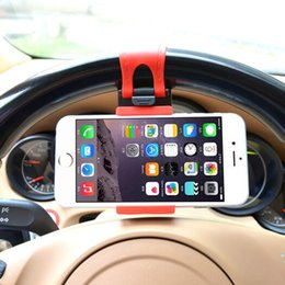 Wholesale Aim Free - High Quality Plastic Silicone Belt Car Steering Wheel Mobile Phone Holder Hand Free Car Aiming Circle Cell Phone Holder with Cheapest Prices