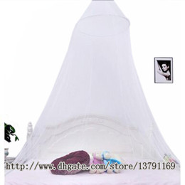 Wholesale Canopies For Beds - Summer Mosquito Net Elegant Round Lace Bed Canopy Netting Curtain Hang Dome Mosquito Net for Indoor Outdoor White