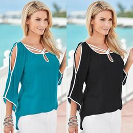 Wholesale Womens Silk Jacket Xl - Suit-dress Irregular Jacket Bat Five Sleeve Middle Strapless White Pity Womens Clothing Ladies Shirts Tshirts Women Plus Size Striped 5XL