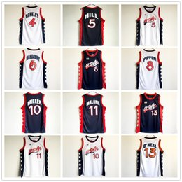 Wholesale Olympic Basketball Jerseys - 1996 Atlanta Olympic USA Team Basketball Jerseys 5 Grant Hill 8 Scottie Pippen 10 Reggie Miller 11 Karl Malone 13 Shaquille ONeal Jersey