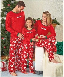 Wholesale Mother Son Fashion Clothes - 2017 Christmas Pajamas Family Matching Clothes Dad Mother Daughter Clothes Father Son Mon Baby Outfits Family Look Sets New Year Gifts