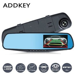 Wholesale Touchscreen Mirrors - Newest Car Camera Rearview Mirror Auto Dvr Dual Lens Dash Cam Recorder Video Registrator Camcorder FHD 1080p Night Vision DVRs
