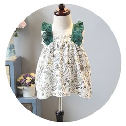 Wholesale Toddler Chiffon Ruffle Shorts - Everweekend Girls Floral Ruffles Tees Patchwork Summer Cotton Sweet Tops Fashion Cute Toddler Baby Clothing