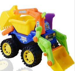 Wholesale Large Toy Excavator - 2017 new large sandy beach inertial engineering car children excavator model water gun toy children toy car