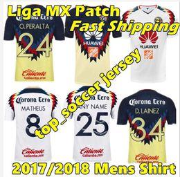 Wholesale America Mexico - 2017 2018 Mexico Club America Soccer Jersey Thailand Quality Men C.BLANCO home away D.BENEDETTO R.SAMBUEZA O.PERALTA Soccer Uniforms