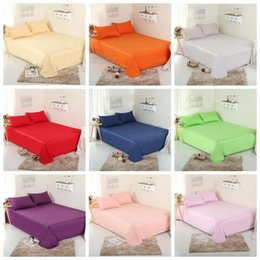 Wholesale Pure Cotton Bedding - Pure Color Bed Sheets 140*230cm Cotton Solid Color Bedding Sheet Four Seasons Sheets 19 Colors OOA2518