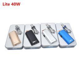 Wholesale E Cig 3ml - Jomo Lite 40w e cig box mod Lite 40w vapor mod kit 3ml tank built-in battery vs subox mini istick 40w Free DHL
