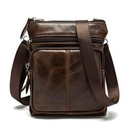 Wholesale Handmade Leather Coin Purse - Wholesale-Casual Leather Men Bag Small Coin Purse Shoulder Bag Vintage Design Handmade Zipper Style Messenger Bags Handbags Men G40-739