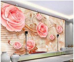 Wholesale Carve Sofa - customized wallpaper for walls Modern style stone carved roses TV sofa background wall decoration painting 3d wallpaper for room