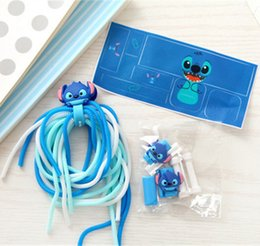Wholesale Earphone Winder Cable Tidy - Cartoon Cable Charger Saver Protector Earphone Earbuds USB Cables Charger Stickers Wire Cord Wrap Tidy Winder Tools Protective Cover 4ps set