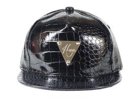 Wholesale Hater Leather Snapback - QE550461# free shipping New GOSHA hater Letter Baseball leather Cap men Bones Snapback Hip Hop Fashion Flat Hat