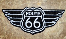 Wholesale Routed Signs - ROUTE 66 - USA HIGHWAY BIKER ROAD SIGN - HISTORIC - EMBLEM Iron On Patches,Appliques,100% Quality