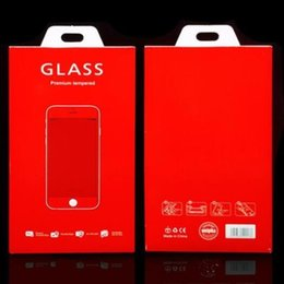 Wholesale China Iphone Glass - China red sponge Retail Package Boxes Packaging for Tempered Glass 9H Screen Protector for iphone 6S 7 Plus Samsung S7 S8 Plus