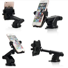Wholesale Easy Note - Retractable Car Mount Holder Easy One Touch Universal Holders Suction Cup Cradle Stand For iPhone 8 7 6 6S Plus Samsung S8 note 8 phone