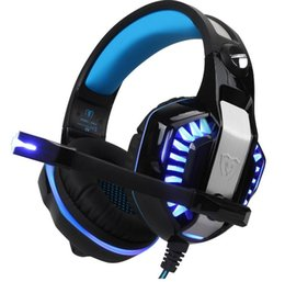 Wholesale Gaming Headphones Microphone - Wired GM-2 Gaming Headset Headphones with Microphone LED Light Stereo Surround Headband Headphone for Computer Gamer Smartphones