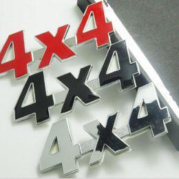 auto adhesivos 4x4 Rebajas 1 PC 3D Metal Car Styling 4x4 Emblema Adhesivos Calcomanías Pegatinas Auto Motocicleta Logo Accesorios Plata Negro Color Creativo