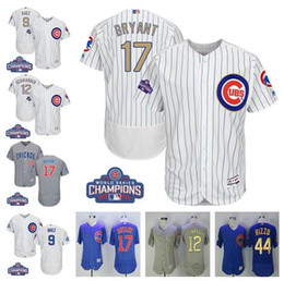 Wholesale 2017 World Series Champions Men s Chicago Cubs gold Javier Baez Kyle Schwarber Kris Bryant Anthony Rizzo baseball jerseys