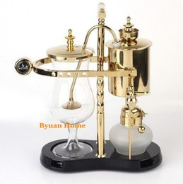 Wholesale Coffee Water Glass - YBT0708 design water drop Royal balancing siphon coffee machine belgium coffee maker syphon vacumm coffee brewer
