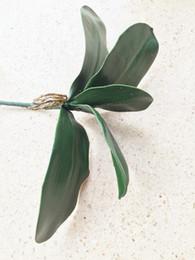 Le foglie di orchidee online-Orchid Leaf Bunch Phalaenopsis Leaf 28cm Lunghezza Artificiale Farfalla Orchidea Foglie Verde Pianta Matrimonio Natale Home Decor