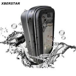 Wholesale Waterproof Suit Motorcycle - Wholesale-New Waterproof Motorcycle Bicycle Zipper Bag Case with Mount Holder for GPS SmartPhone Double suit for less then 5.5 inch