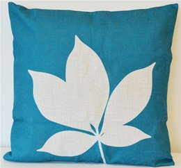 Wholesale Top Selling Cushion - TOP selling Leaf Home Decor Vintage Cotton Linen Cushion Cover Pillow Case 45x45cm free post