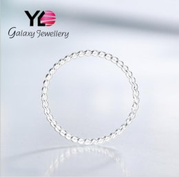 Wholesale Men S 925 Silver Rings - Silver Rings Women 's Rings Jewelery 925 Sterling Silver Coil Wrap Round Rings Men and Women Simple Korean Jewelry