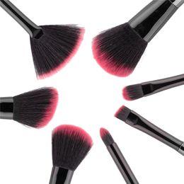 Wholesale Toothbrush Kits Wholesale - Black Mermaid Brush Makeup Brush Set 7pcs Cream Face Power Brushes Multipurpose Beauty Cosmetic Brushes Mermaid Toothbrush Cosmetic 2805105