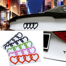 Wholesale Abs Audi A4 - For Audi Heart Love Trunk Badge Emblem Car Logo Rear Decal Sticker Replacement For Audi A3 A4 A6 A8 Q5 Q7 TT RS6