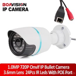 Wholesale Hikvision Nvr - Mini security CCTV HD outdoor IR bullet poe IP Camera 1.0 Megapixel 3.6mm Lens ONVIF Optional Bullet webcam work Hikvision dahua nvr