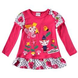 Wholesale Kimono Baby Cotton - Baby girls long sleeved floral skirt shirt T-shirt cotton children's cartoon