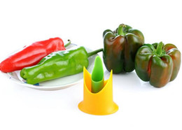 Wholesale Pepper Fruit - 2Pcs set Creative chili tomato corers fruit vegetable tools pepper corer slicer cutter kitchen gadgets cooking tools