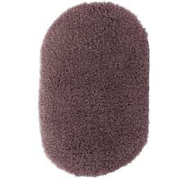 Wholesale Oval Carpets - Wholesale-New Soft Fluffy Bedroom Non-Slip Door Floor Mat Carpet Rugs Oval Water Absorption Doormat Bath Shower Mats Home Decor 31x51cm