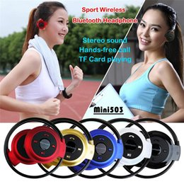 Wholesale Usb Music Note - 20pcs Wireless Bluetooth Mini-503 Stereo Headset Handsfree Sports Music Headphone Earphone for Iphone 4S 5 5S Samsung Galaxy S4 S5 Note 3