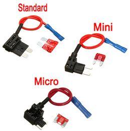 Canada Ajouter un circuit Standard / Mini / Micro Lame Boîtes à fusibles Porte-fusibles Piggy Back Tap Offre