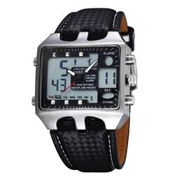Wholesale Ohsen Waterproof Sports Men - Hot OHSEN AD0930 Men Sports Watches Analog Digital Quartz 3ATM Waterproof Dive Fashion Military Watch Relogio Male Clock Gifts