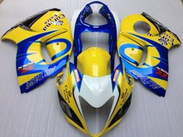 Wholesale Hayabusa Corona Fairing - New Injection Mold ABS Fairings Kits For Suzuki Hayabusa GSXR1300 GSX-R 1300 GSXR 1300 2008-2015 08 09 10 11 12 13 14 15 yellow blue corona