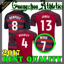 Wholesale Team Usa Football Jersey - USA Soccer Jerseys Thailand Quality fans American National Team 2017 Gold Cup United States DEMPSEY DONOVAN BRADLEY PULISIC Football shirts