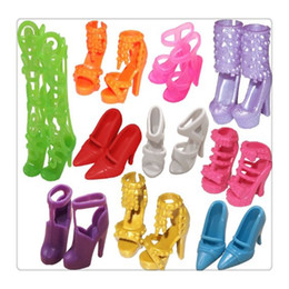 Wholesale Doll Shoes For Kids - Wholesale Mini Dolls Shoes Different Doll Shoes Boots Accessories For Barbie Dolls Multi Color Baby Girl Kids Gift Toys Free DHL