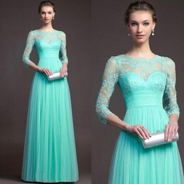 Wholesale Long Pencil Formal - Plus Size 2017 Autumn Winter Women Long Chiffon Dress Half Sleeve Maxi Dresses Formal Wedding Party Lace Dress Bridesmaid wear