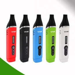 Wholesale Titan Arrival - New Arrival Dry Herb Habit Vaporizer airis Viva Vicod vaporizer kit OLED Display 2200mAh Battery 4 Colors vs mighty vaporizer titan 2