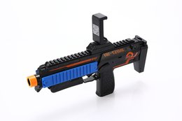 Wholesale Wood Toy Guns - .VR AR Game Gun Cell Phone Stand Holder Portable Wood AR Toy Game Gun with 3D AR Games for iPhone Android Smart Phone WD034AA
