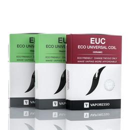 Wholesale pc mega - Authentic Vaporesso EUC Replacement Coils Traditional Ceramic 0.5ohm Coil Head Clapton for Estoc Mega Tank 5 pcs packing
