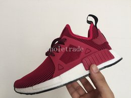 Wholesale Womens Pink Camo Shoes - NMD XR1 Magenta Unity Pink Zebra Duck Camo Pink Olive green Maroon Linen Glitch Triple Black Shoes Mens Womens Nmd Runner Free Shipping