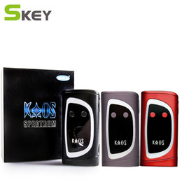 Wholesale Sigelei Kaos Spectrum Box Mod W TFT Big Oled Display Vape Mod Changeable LED Color Bar Watt vs Lost Vape Triade