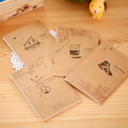 Wholesale Craft Paper Notebook - Wholesale- 1pcs Mini Note Book Cartoon Cute Notebook Notepad Daily Memos Note Craft Paper Vintage School Supplies Stationery